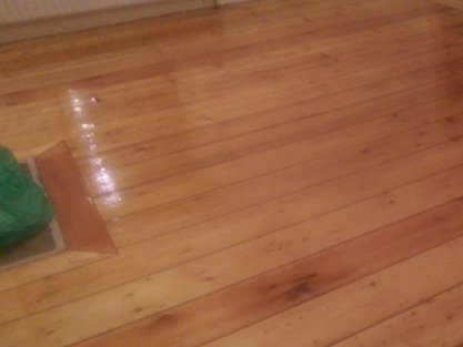 restored wooden floor - what a difference