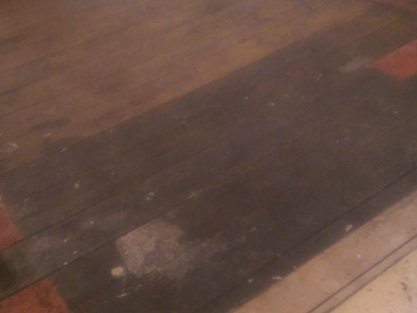 before restoring and polishing a floor